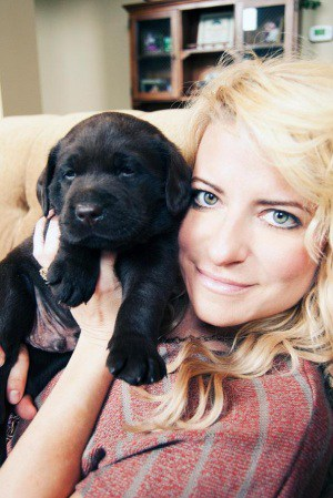 Donna Stanley with Endless Mountain Labrador pup