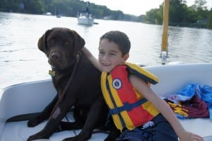 Koda and his boy- Endless Mt. Labradors