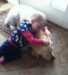 Baby Eva resting on Amy